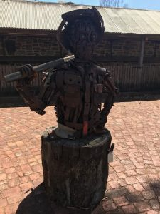 Statue at Rockford wines