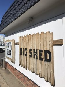 Big Shed sign