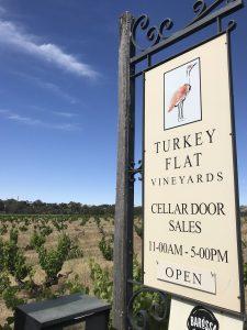 Turkey Flat Vineyards sign