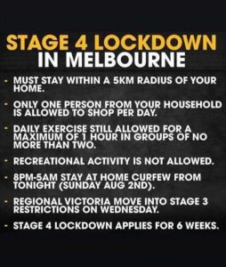 Stage 4 lockdown in Melbourne
