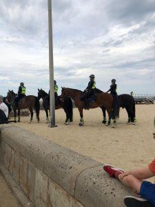 Police presence on beach